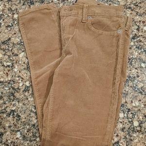 Brown cordoroy pants